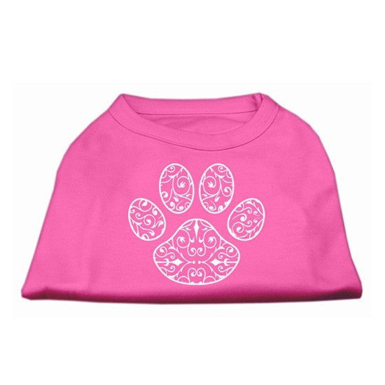 Henna Paw Screen Print Shirt by Mirage (Pink) - InkedShop - 1