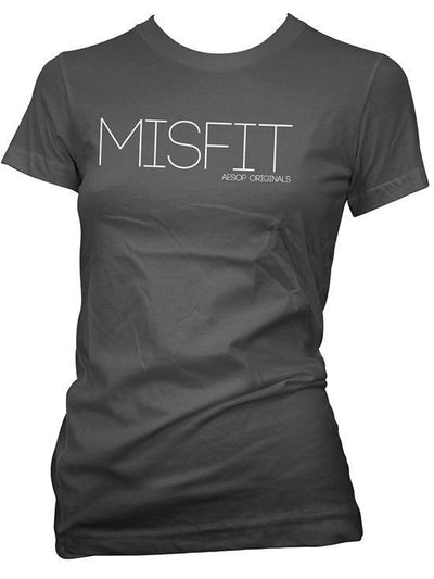 "Women's ""Misfit"" Tee by Aesop Originals (Black) - www.inkedshop.com"