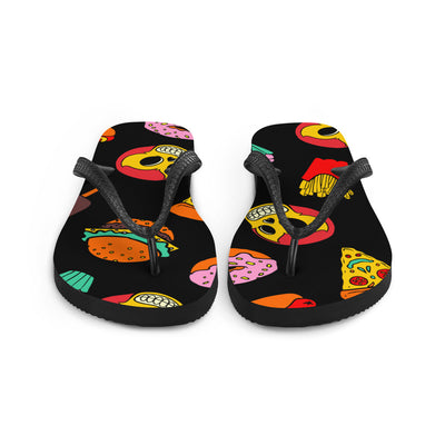 "Unisex ""Junk Food"" Flip Flops by Skelly & Co"