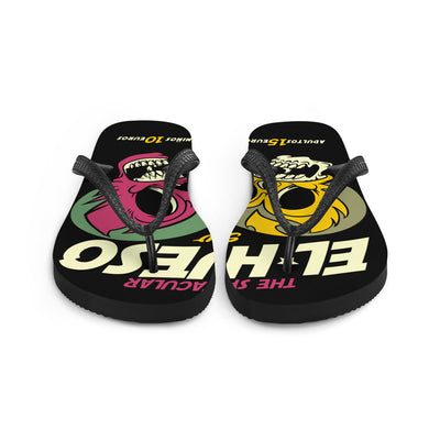 "Unisex ""El Hueso"" Flip Flops by Skelly & Co"