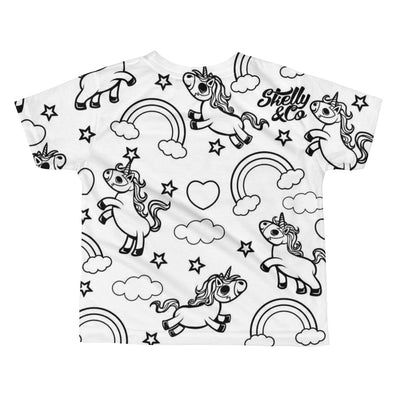 "Kids ""UNI-TY"" Sublimation Tee by Skelly & Co (White)"