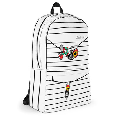 """HANG OUT"" Backpack by Skelly & Co (White)"