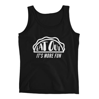 Women's Eat Out Tank by Dirty Shirty