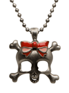 Skull with Bow Necklace by Mitch O'Connell (More Options) - www.inkedshop.com