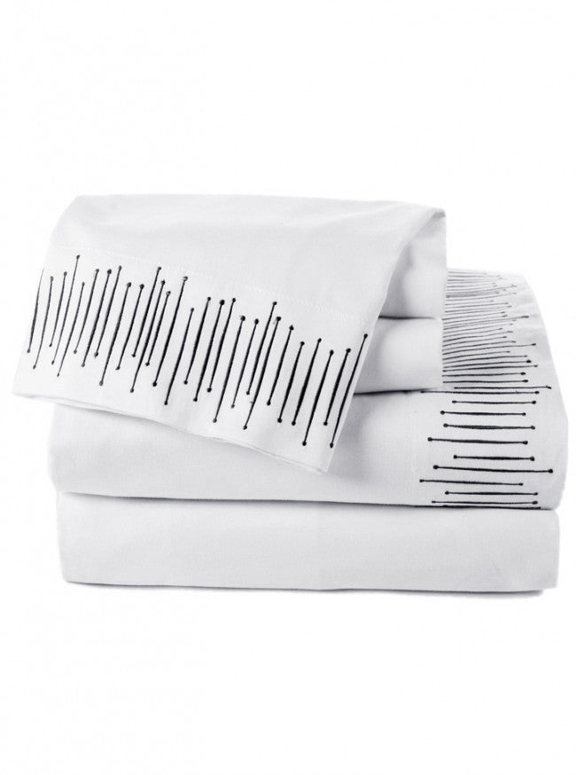 """Modern Vibes"" Sheet Set by Sin in Linen - www.inkedshop.com"
