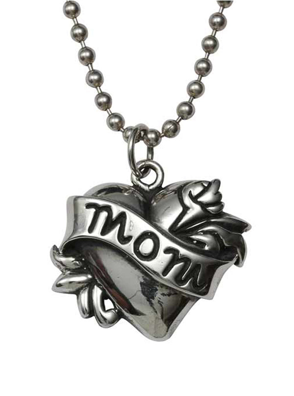 Mom Tattoo Necklace by Femme Metale
