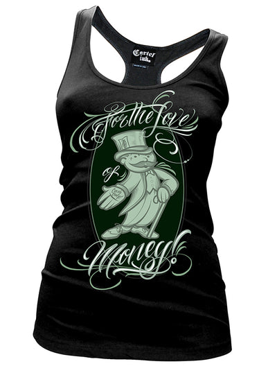 Women's For The Love Of Money Racerback Tank by Cartel Ink