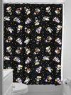 """Monster Kewpies"" Shower Curtain by Sourpuss (Black) - www.inkedshop.com"