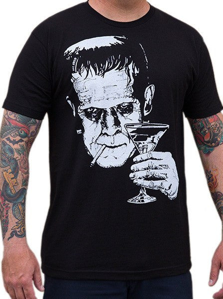 "Men's ""Monster Martini"" Tee by Lowbrow Art Company (Black) - www.inkedshop.com"