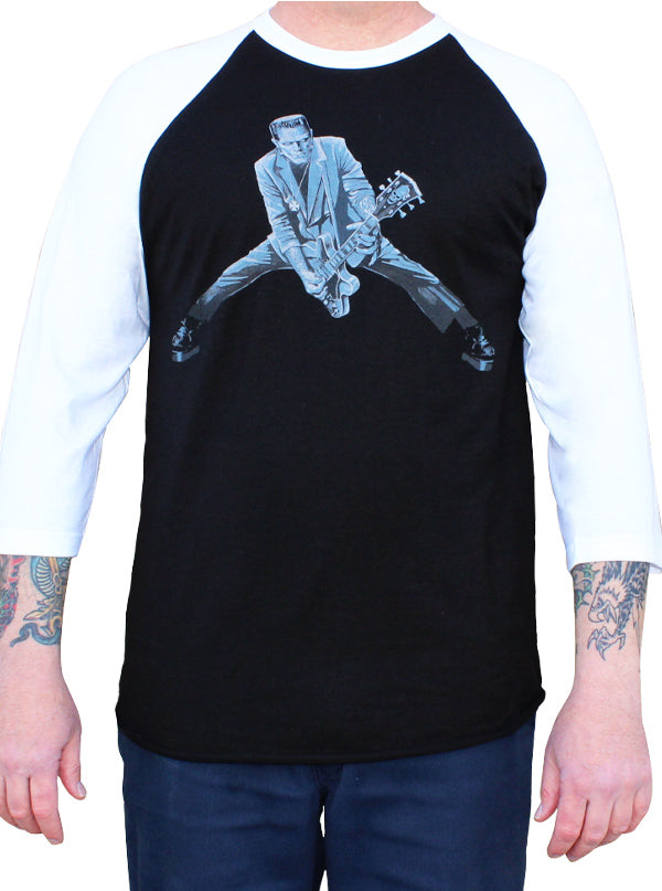 Men's Rock N Roll Monster Baseball Tee by Lowbrow Art Company
