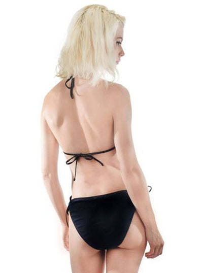 "Women's ""Phases Of The Moon"" Jade Triangle Bikini by Rat Baby (Black) - www.inkedshop.com"