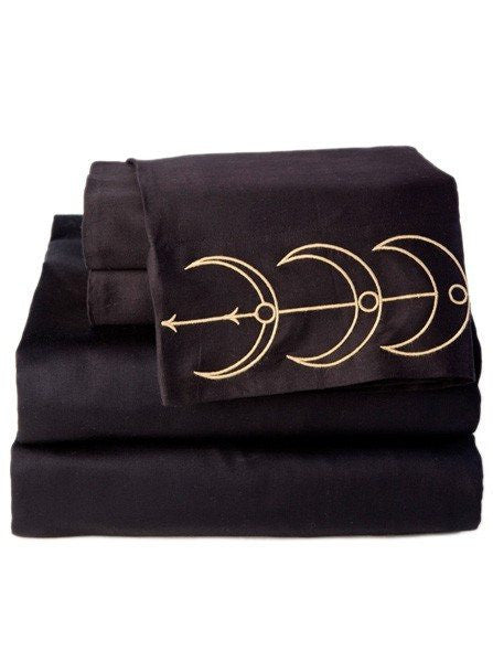 """Moon Phase"" Sheet Set by Sin in Linen - www.inkedshop.com"