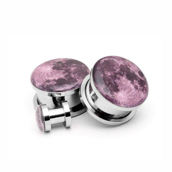 Full Moon Picture plugs by Mystic Metals Body Jewelry - InkedShop - 1