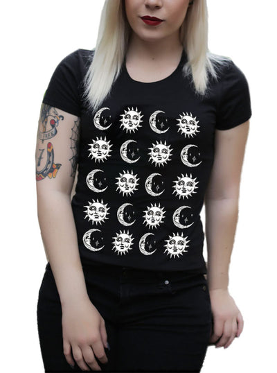 Women's Moon and Sun Tee by Cartel Ink
