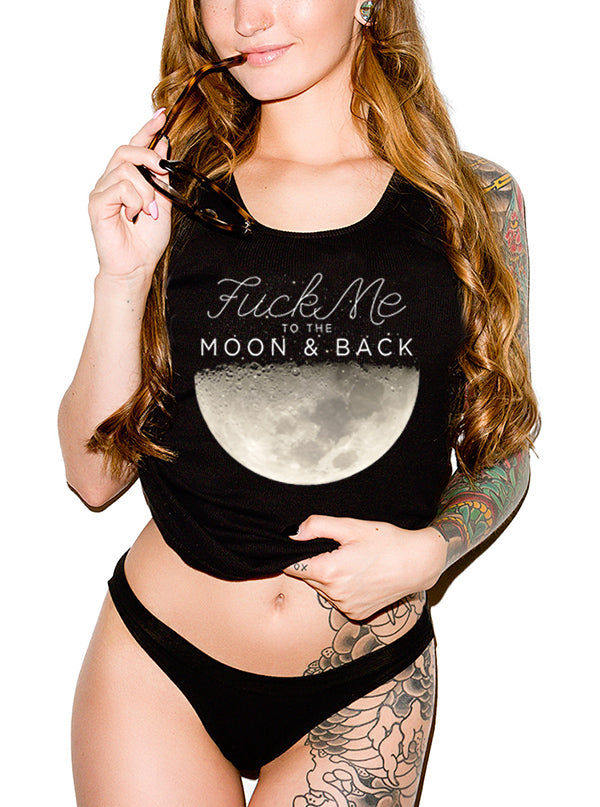 Women's To The Moon & Back Flowy Tank by Dirty Shirty
