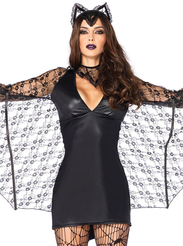 "Women's ""Moonlight Bat"" Costume by Leg Avenue (Black)"