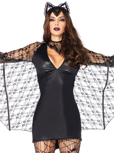 Women's Moonlight Bat Costume by Leg Avenue