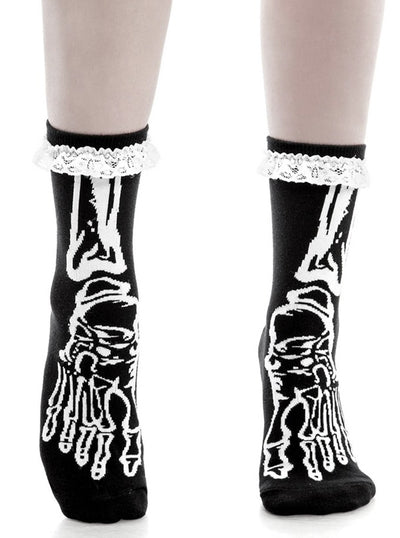Morgue Ankle Socks by Killstar