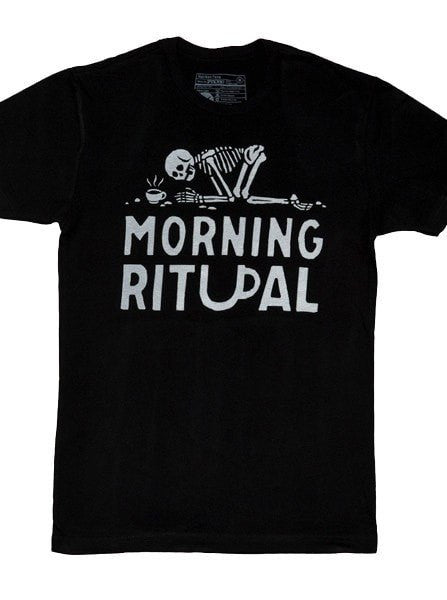 "Men's ""Morning Ritual"" Tee by Pyknic (Black) - www.inkedshop.com"