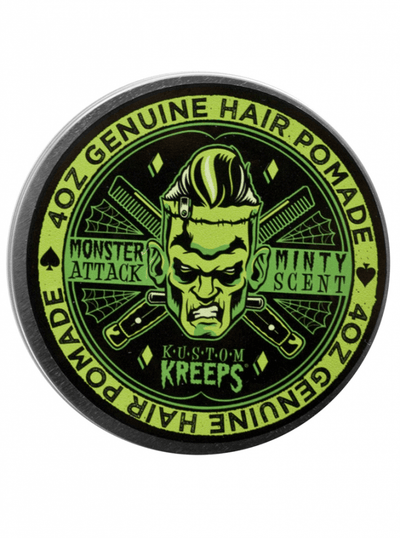 "Men's ""Monster Attack"" Medium Pomade by Kustom Kreeps (Minty) - www.inkedshop.com"