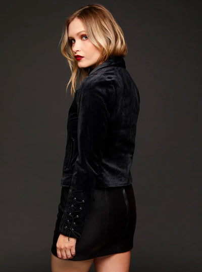Women's Velvet Underground Moto Jacket by Pretty Attitude Clothing