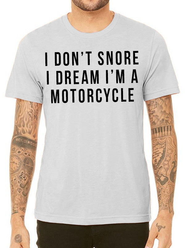 "Men's ""Moto Dreams"" Tee by Inked (Heather Grey)"