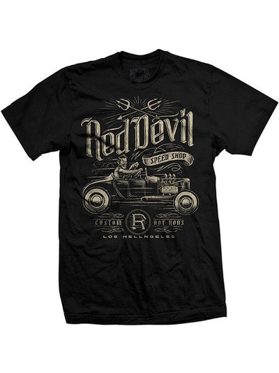 "Men's ""Speed Shop"" Tee by Red Devil Clothing (Black) - www.inkedshop.com"