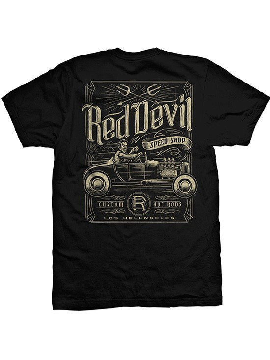 "Men's ""Speed Shop 2"" Tee by Red Devil Clothing (Black) - www.inkedshop.com"