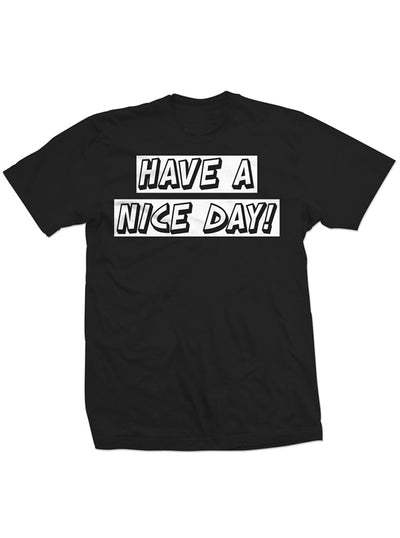 "Men's ""Have a Nice Day"" Tee by Dirty Shirty (Black)"