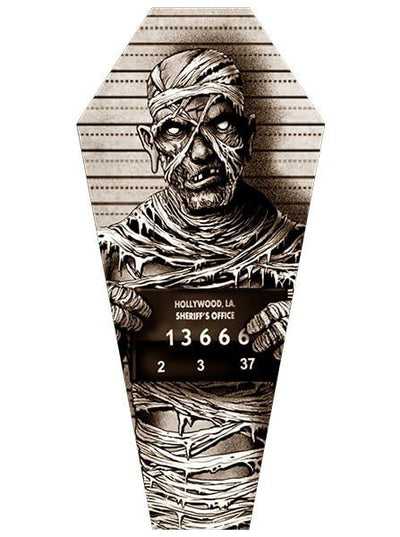 """Mummy Mugshot"" Canvas Coffin by Marcus Jones for Lowbrow Art Company - www.inkedshop.com"