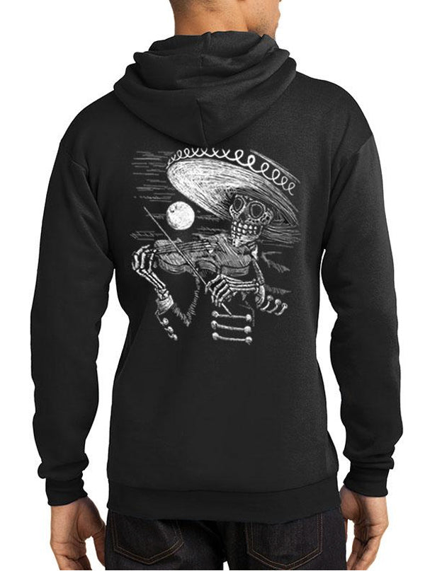 "Men's ""Face the Music"" Hoodie by Tat Daddy (Black)"