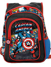 """Retro Captain America"" Backpack by Marvel (Black/Multi) - www.inkedshop.com"