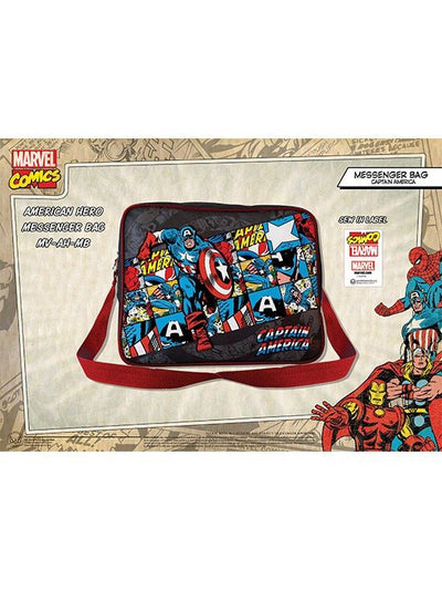 """Retro Captain America"" Messenger Bag (Black/Multi) - www.inkedshop.com"