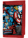 """Retro Captain America"" Wallet by Marvel (Black/Red) - www.inkedshop.com"