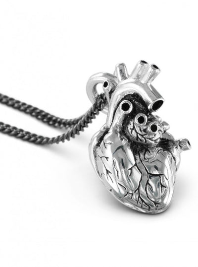 """Anatomical Heart"" Necklace by Lost Apostle (Antique Silver) - InkedShop - 3"