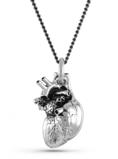 """Anatomical Heart"" Necklace by Lost Apostle (Antique Silver) - InkedShop - 2"