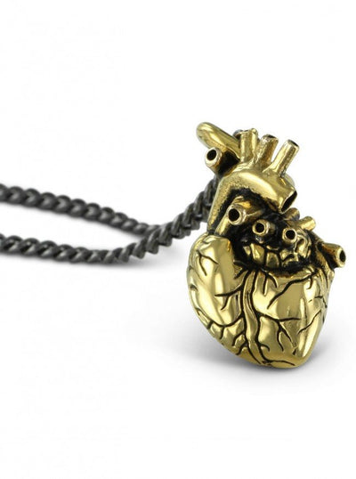 """Small Anatomical Heart"" Pendant by Lost Apostle (Gold-Plated Bronze) - InkedShop - 3"