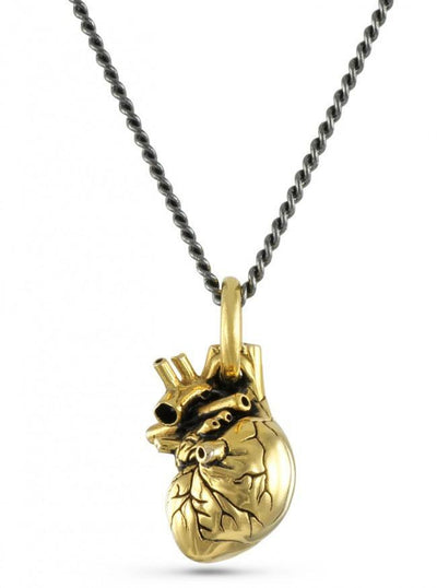 """Small Anatomical Heart"" Pendant by Lost Apostle (Gold-Plated Bronze) - InkedShop - 1"