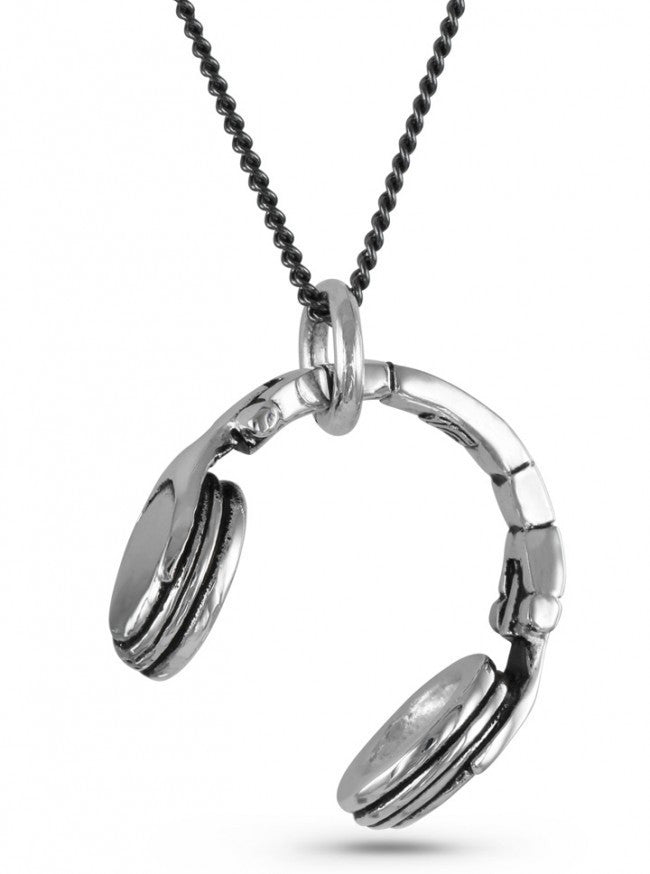 """Headphones"" Necklace by Lost Apostle (Antique Silver) - InkedShop - 1"