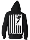"Men's ""Steadfast Nation"" Zip-Up Hoodie by Steadfast Brand (Black) - www.inkedshop.com"