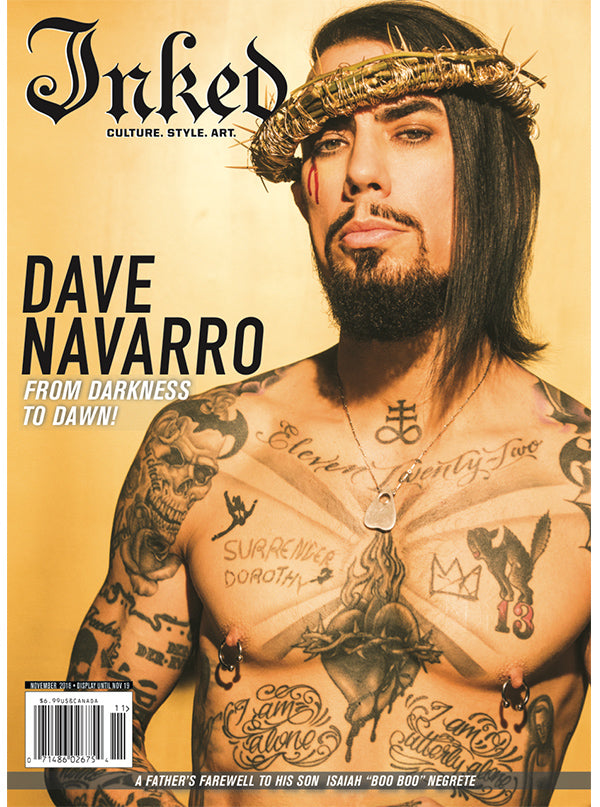 Inked Magazine Inked For A Cause Edition Featuring Dave Navarro - November 2018