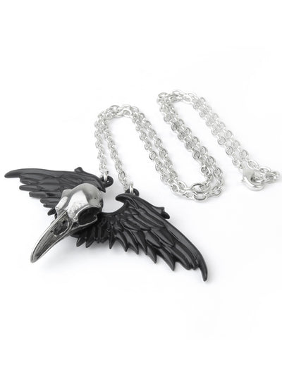 """Ravenger"" Pendant by Alchemy of England (Black/Silver)"