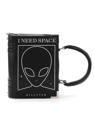 """Need Space"" Handbag by Killstar (Black)"