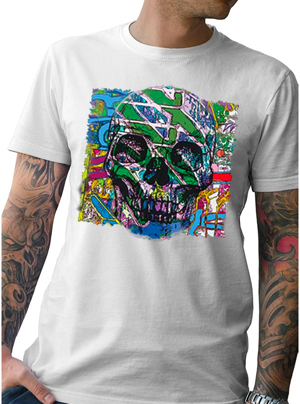 Men's Neon Skull Tee by Tat Daddy