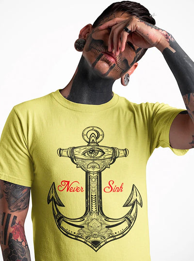 Men's Never Sink Tee by Tat Daddy
