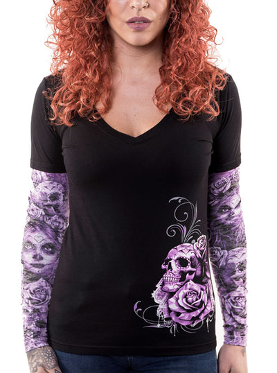 Women's My Nightmare Tattoo Sleeve Tee by Lethal Angel