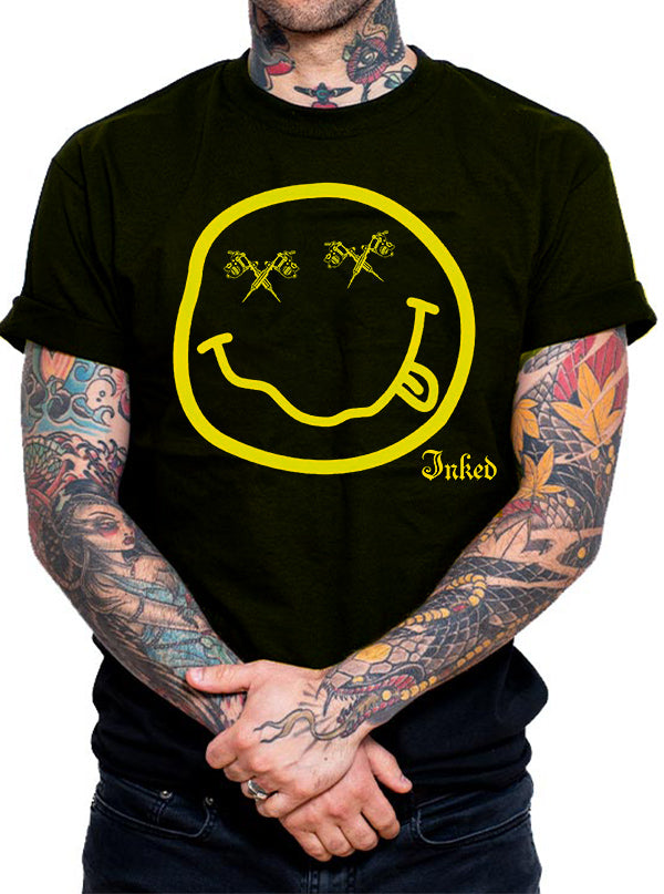 Unisex Smiley Face Tee by Inked