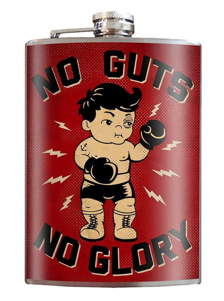 """No Guts No Glory"" Flask by Trixie & Milo - www.inkedshop.com"