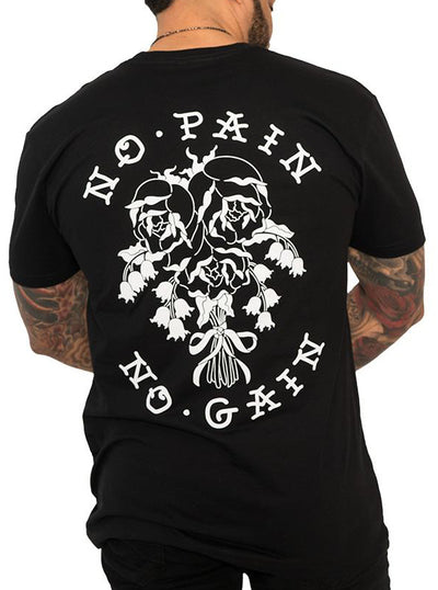 "Men's ""No Pain No Gain"" Tee by InkAddict (Black)"