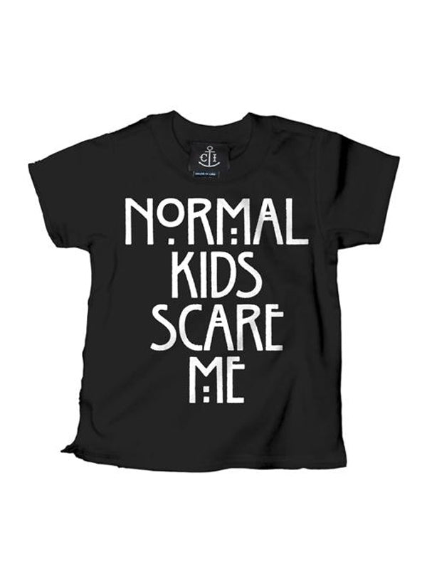 Kid's Normal Kids Scare Me Tee by Cartel Ink